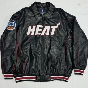 Other - FAUX LEATHER MIAMI HEAT JACKET